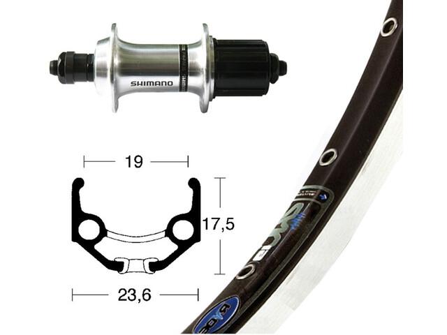 """Rigida TX500 Rear Wheel Rigida Zac 19 8-speed 36 hole 28"""", black/silver"""
